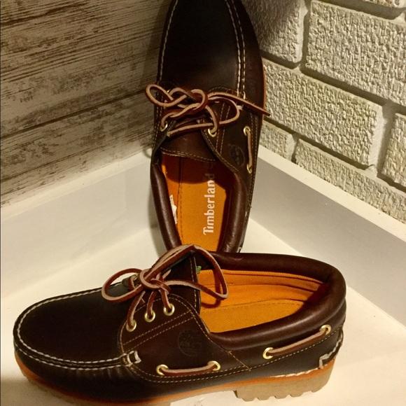 Timberland traditional classic lug boat shoe, new!